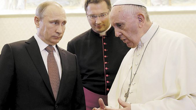 Putin: 'Pope Francis Is Not A Man Of God'